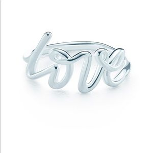 Tiffany's Paloma's graffiti love ring size 5.5